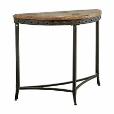 Worldwide Home Furnishings 502-244 !nspire Distressed Half Moon Console Table