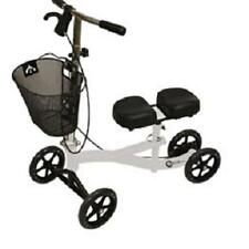 Roscoe Steerable Turning Knee Scooter, Walker, White