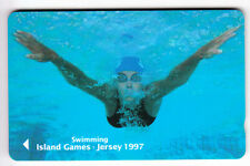 EUROPE  TELECARTE / PHONECARD .. ILE JERSEY 2£ GPT 53JERA NATATION SWIMMING