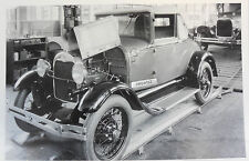 "Picture 1929 Ford Cabriolet assembly line 12X18"" Black & White Picture"