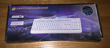 NEW! SUNBEAMTECH SOLAR ILLUMINATED LIT LIGHT UP GAMER KEYBOARD * FREE SHIPPING *