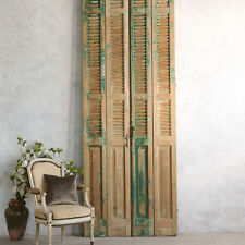 Shabby Cottage Chic Vintage Style French Architectural Old Large Side Tall Doors
