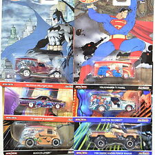 HOT WHEELS POP CULTURE SET OF 6 COMICS VOLKSWAGEN  DODGE MACHO BATMAN SUPERMAN