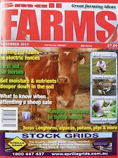 Small Farms Magazine November 2015 - Get Moisture And Nutrients Deeper In Soil