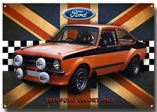 FORD ESCORT MK2 1978 METAL SIGN,CLASSIC FORD CARS,1970'S RALLY CARS.