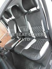TO FIT A RENAULT TRAFIC VAN SEAT COVERS, 2015, CROSS STITCH BLACK/SILVER GREY