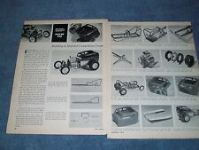 """1963 How To Model Building Vintage Article """"Building A Modified Comp Coupe"""" Drag"""
