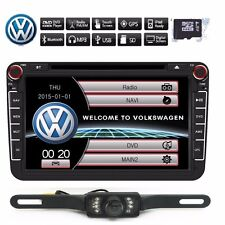 "8"" 2din LCD Car Stereo DVD CD Player Radio for VolksWagen VW GPS Nav Bluetooth"