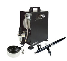 Professional Airbrushing Kit - ALplus 0.2mm Airbrush & Sparmax 610H Compressor