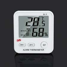 Digital LCD Snooze Weather Alarm Thermo-hygrometer Humidity Meter Tester Gauge