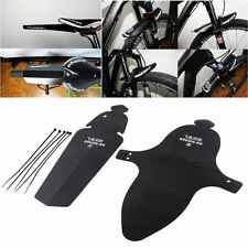 1Set Black Ultralight MTB Bike Cycling Bicycle Sports Fender Front Rear Mudguard