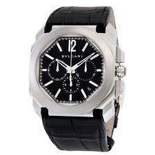 Bvlgari Octo Velocissimo Chronograph Black Lacquered Polished Dial Black