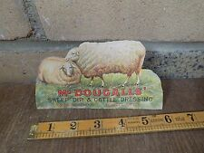 McDougalls Sheep Dip Veterinary Advertising Standee Trade card Sign c1920s