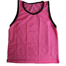 Single YOUTH GIRLS PINK Scrimmage Vests Pinnies for Team Sports-Soccer, Softball