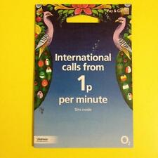 o2 SIM Card: INTERNATIONAL Nano/Micro/Standard +02 Priority Deals +Free WiFi UK