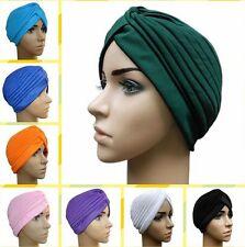 Fashion Womens Tuban Hair Head Wrap Pleated Twist Hat Cap Chemo Bandana Hijab