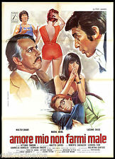AMORE MIO NON FARMI MALE MANIFESTI CINEMA (1° 2° e 3° TIPO) 1974 MOVIE POSTER 2F