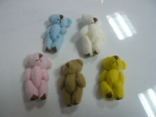 LOT10 Mini Joint Teddy Bear Bare Joint Bear Doll Cartoon Plush Stuffed Toys4.5CM