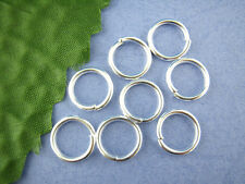 50 x Silver Plated Strong Open Jump Rings Craft Findings- 12mm - L00526