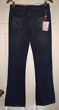 NEW WOMENS Size 28 (31x34) FANCY COLLECTION Denim Blue Jeans Embroidered Pocket