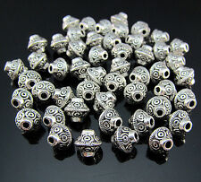 FREE 50PCS Crafts Tibetan silver Cone Pendant Biconical Jewelry spacer beads 6MM