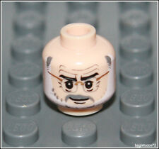 Lego Indiana Jones x1 Flesh Head White Gray Beard City Glasses Minifigure NEW