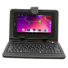 "7"" Unlocked Bluetooth Phone Tablet GSM Android 4.4 Bundled Keyboard Case"