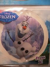 OLAF~SnOwMaN~Disney~FROZEN~FLaShiNg LED LiGhT Up~BaDgE~StiCkEr~YAZZLES