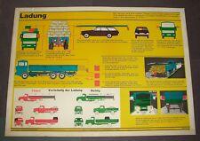 """Um1965 Fahrschule Lehrtafel 66 x 91cm """"Ladung"""" Remagen Verkehrs Verlag Nr. 320"""