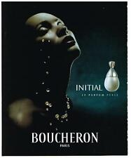 PUBLICITE ADVERTISING  2000  BOUCHERON  INITIAL  collection parfums  femme PERLE