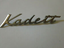 Vintage Opel Kadett Metal Emblem Ornament nameplate trim badge  logo