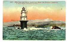 San Francisco CA-MILE ROCK LIGHTHOUSE IN GOLDEN GATE-Postcard