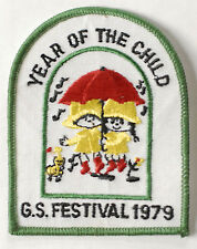 GIRL SCOUTS SCOUT Year Of The Child G S Festival 1979 patch