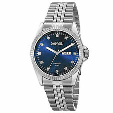 Men's August Steiner AS8169BU 12 Genuine Diamond Markers Quartz Bracelet Watch