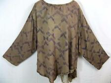 T262~Tienda Ho~LT BROWN~Double Asymmetric/Layered~Embroidered~RAYON~Santa Fe~OS