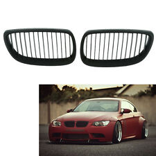 Matte Black Kidney Grill Grille for BMW E92 E93 3 Series Coupe Cabriolet 06-10 H