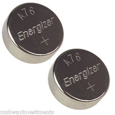 ENERGIZER A76 1.5V 1.5 VOLTS BUTTON BATTERY LR44 - DOUBLE PACK