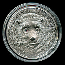Mongolia ‎‎2007 500 Togrog Gulo Gulo Wolverine Silver Coin 100%GENUINE Mongolei