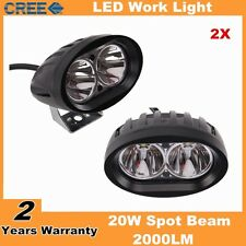 4inch 20W Oval Cree LED Work Light Lamp Spotlight Fit Motocycel Auto Boat Truck