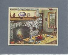 VINTAGE GRAY STONE HEARTH DELFTWARE CUPBOARD KITCHEN FRUIT SCRAPBOOKING PRINT