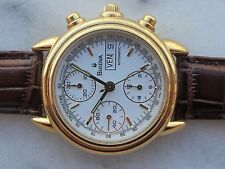 VINTAGE BULOVA CHRONOGRAPH AUTOMATIC CAL.ETA 7750,GOLD PLATED SWISS MADE 38mm