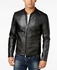 AIX Armani Exchange Men's Leather Bomber Jacket, size M
