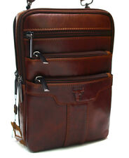 Men's Leather Vintage Brown Messenger Bag Shoulder Bag Sling Back Pack 9189