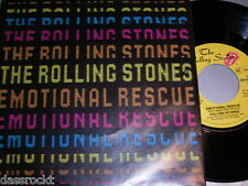 """7"""" - Rolling Stones / Emotional Rescue & Down in the Hole - MINT 1980 # 1513"""