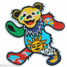 Bear Star Sun Moon Grateful Dancing Dead Sew Embroidered Iron on Patch Cap #S005