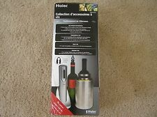 Haier wine accessory 4 pieces set rechargeable opener thermometer bucket stopper