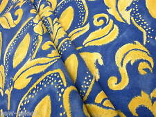 5.5m Zimmer Rohde blue & gold yellow printed curtain upholstery fabric M Heskier