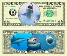 USA 1 Million Dollar Banknote 'Shark - great white' - Marine Life Series - UNC