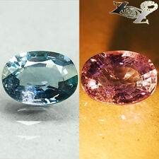 4.57 Ct.Firely Unheated Natural Oval 8*11 mm. Tanga Color Change Blue Sapphire