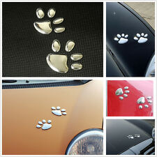 Car Hoods Bumper Fenders Window Lovely 3D Bear Pet Paw Animal Footprints Sticker